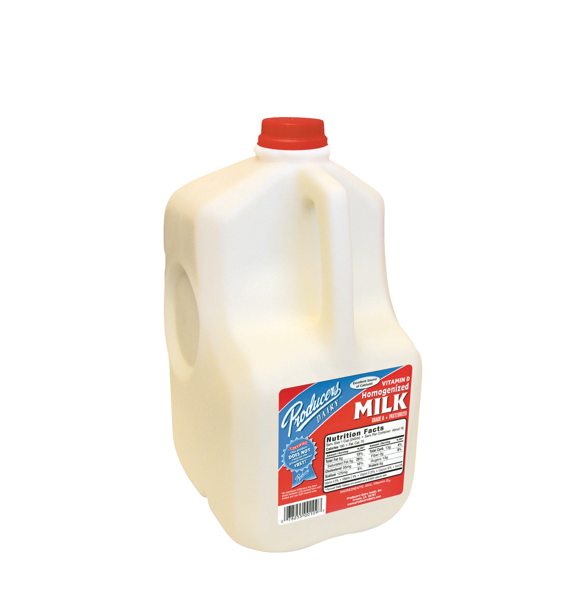 Producers Dairy original Whole Milk plastic gallon container