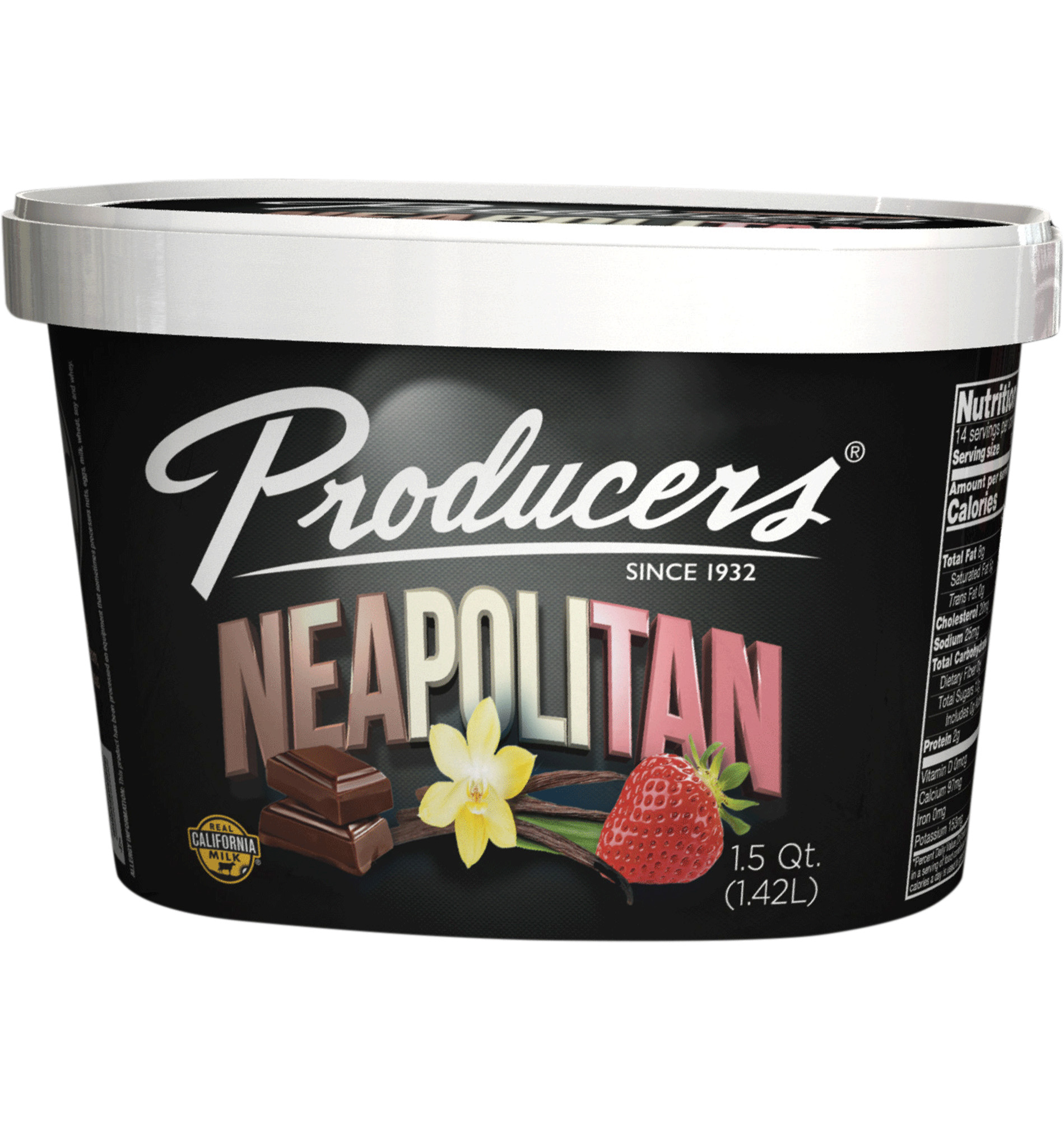 Neapolitan Producers Dairy Ice Cream Container